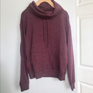 Burgundy Cowl Neck Sweatshirt Plum Sweatshirt